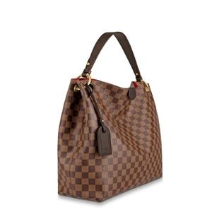Louis Vuitton Graceful MM Damier Ebene Handbag